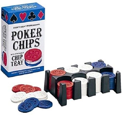 Jax Professional Poker Chips Eighty-eight pieces w/Stackable