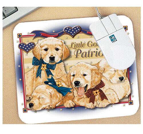 Golden Retriever Patriots Mouse Pad