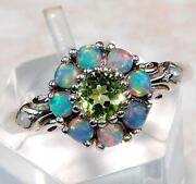 Green Fire Opal Ring