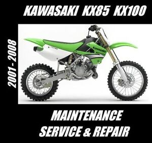 Kawasaki KX85 KX100 KX 85 100 Maintenance Tune-Up Service Repair Rebuild Manual