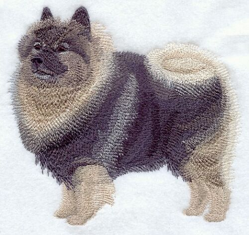 Large Embroidered Zippered Tote - Keeshond C9634
