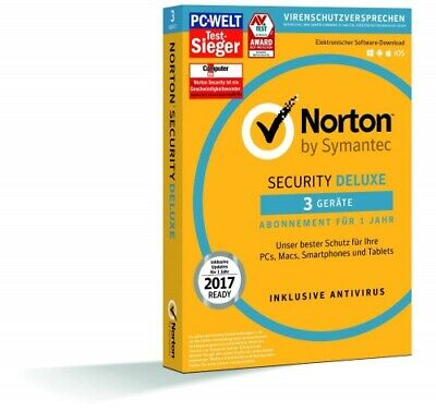 Symantec Norton Security Deluxe 3.0, 3 Geräte - 3 Jahre, ESD, Download