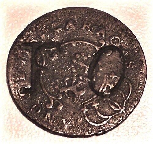 "VENEZUELA CARACAS Copper 1/4 Real 1817 Small Date Cr-2; C/S: ""F O"" Stohr RI-30"