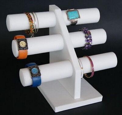 12h Heavy Duty Black Velvet Jewelry Display T Bar Bracelet Bangle Watch Pj65w1