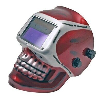 Red Skull Welding Helmet Auto Darkening Mig Tig Arc Welder Tools Protective Gear