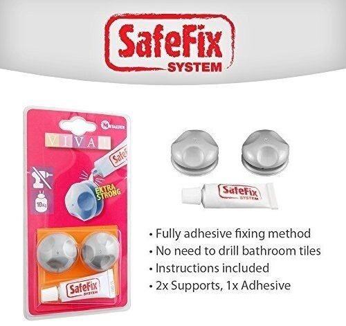 Metaltex Viva Adhesive support to avoid drilling holes in you wall - 404800