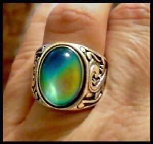 INATURE Natural Crystal Ring 925 Sterling Silver Calla