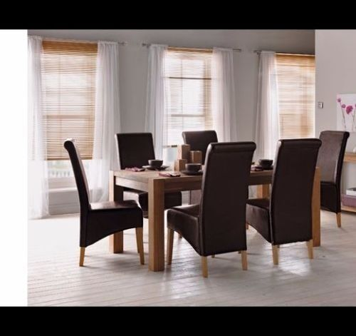 Schreiber Woburn Solid Oak Dining Table 8 Chairs From Homebase