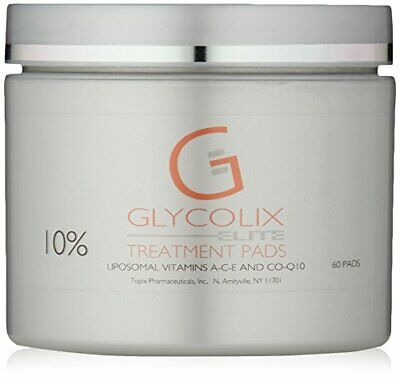 Glycolix Elite Glycolic Acid Exfoliating 10% Treatment Pads , 60 Ct New! Fresh!