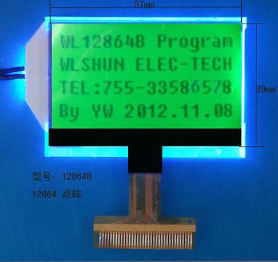 12864b 128x64 Dots Matrix Graphic Lcd Module Display Screen Green Backlight Cog