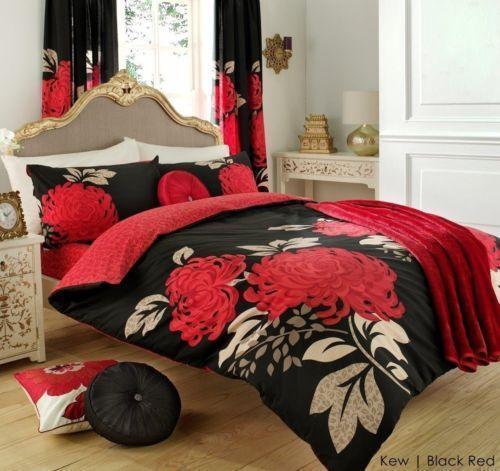 Black Red Double Duvet Cover Ebay