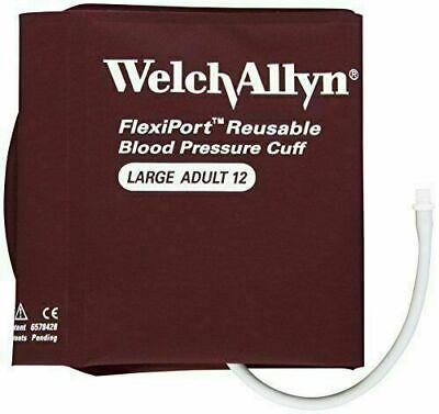 1 Welch Allyn Flexiport Reusable Large Adult Blood Pressure Cuff Reuse-12 New