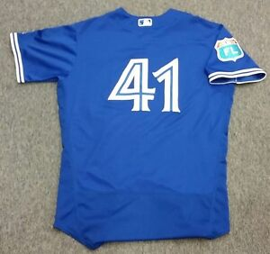 Aaron Sanchez Game Used Spring Training 2016 Jersey – Blue Jays