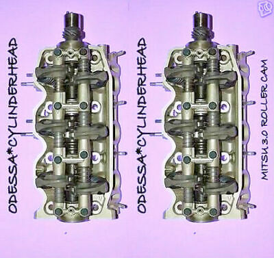 2 CHRYSLER DODGE Plymouth MITSU 3.0 SOHC CYLINDER HEADS ROLLER CAM 90-01 NO CORE