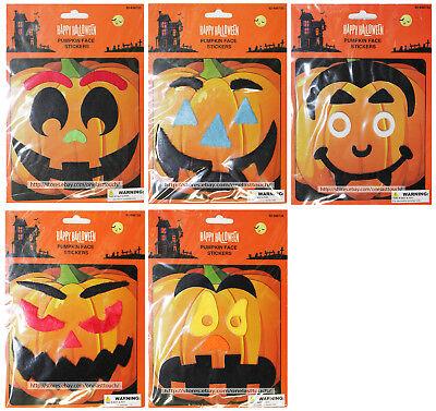 MOMENTUM 6pc PUMPKIN FACE STICKERS Decorations HAPPY HALLOWEEN New! *YOU CHOOSE*](Halloween Pumpkin Face Stickers)