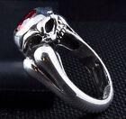 Garnet Silver Rings for Men