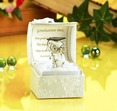 Glass Owl Graduation with Poem, Gift Boxed by PGW](Owl Poem)