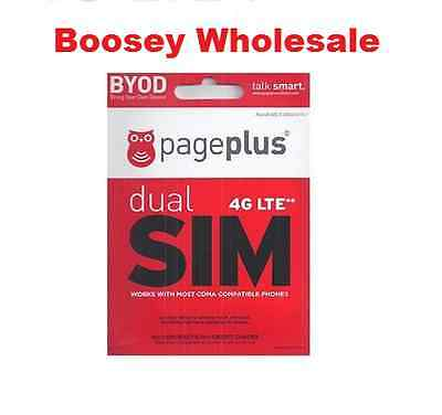 Page Plus Dual Sim Card (Standard / Micro) for Verizon 4G LTE phones on PagePlus