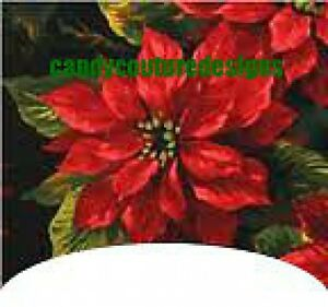 20-WATER-SLIDE-NAIL-ART-DECALS-TRANSFERS-CHRISTMAS-FRENCH-TIP-POINSETTIA