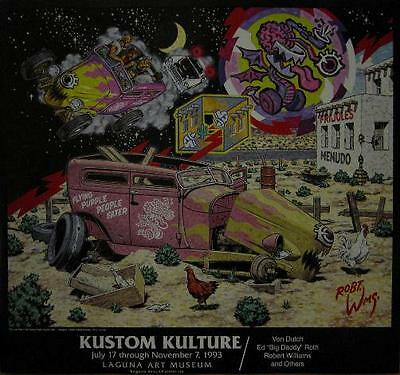 ROBERT WILLIAMS KUSTOM KULTURE EXHIBITION ART POSTER