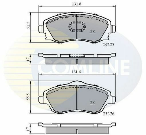 TO CLEAR - NEW COMLINE - FRONT - BRAKE PAD SET - CBP31112