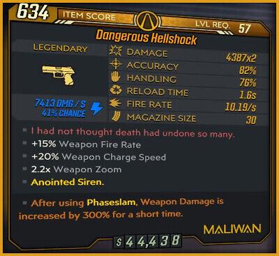 [PS4] Borderlands 3 Phaseslam Amara God Roll Hellshock - Mayhem 10