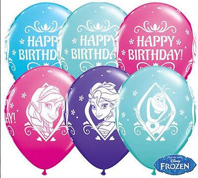 Die Eiskönigin Frozen Happy Birthday Luftballons 5 Stück  Deko Geburtstag Party  ()