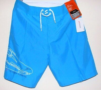 Boys Swimming Shorts Speedo Pablo Magic Print Sport Wear Blue Train 30""