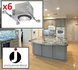 """6 NEW JUNO 4"""" LED DOWNLIGHTS - 133153766 - LED Downlight, 4in, 600lm, 3000K, 120V - TRIMS NOT INCLUDED !"""