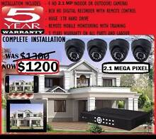 4x 1080dpi Full HD 2.1MP Security Cameras Infrared CCTV Package Melbourne CBD Melbourne City Preview