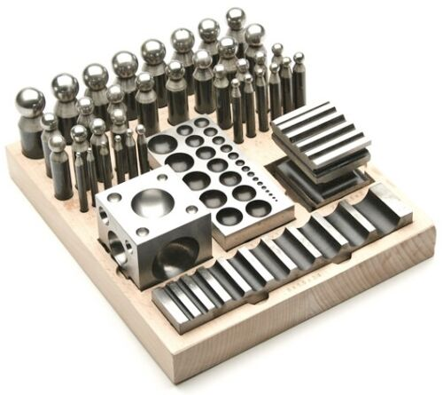 41 pc Dapping Block & Punch SET Metal Forming Kit Jewelry Making and Metalsmith