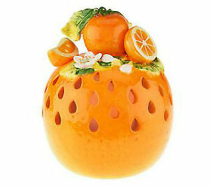 2 qvc kitchen orange fruit decoration flameless candle for Fruit orange decoration