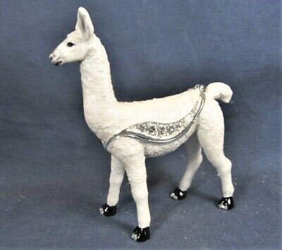 Llama Jeweled Pewter Trinket Box Wild Life Collectible Home Decor Wildlife Trinket Boxes