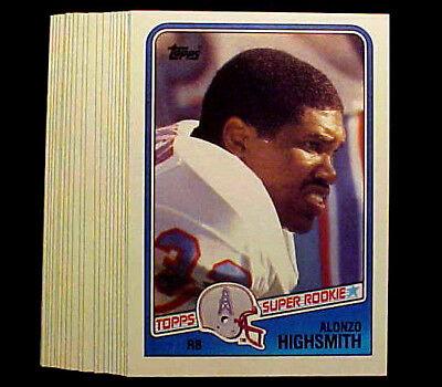 Footballs Bulk Buy (1988 Topps ALONZO HIGHSMITH (RC) ~ 10 CARDS LOT ~ BUY MORE LOTS & SAVE)