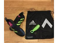 Adidas Ace 16+ Purecontrol black and green uk size 10.5