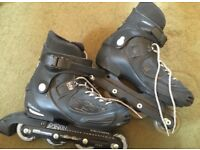 REDUCED Salomon FSK 238 inline skates rollerblades RRP £120 UK 6.5 (fits 5/5.5) PLUS BAG!!