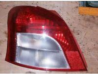 Toyota Yaris T2 N/S Rear Light (2006 - 2009)