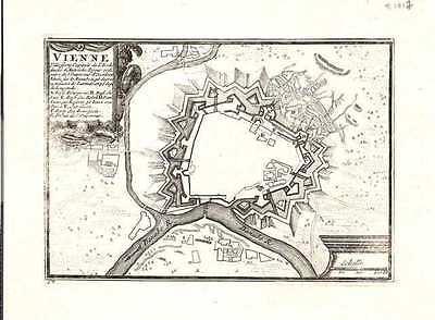 Antique map, Vienne