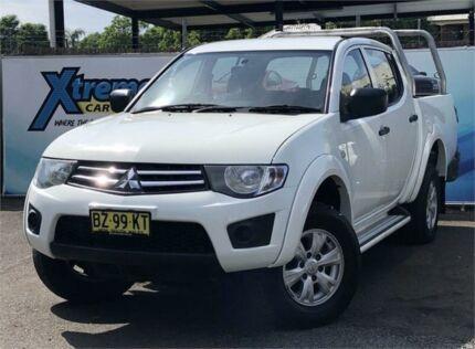 2013 Mitsubishi Triton MN MY13 GLX White Sports Automatic Utility Campbelltown Campbelltown Area Preview