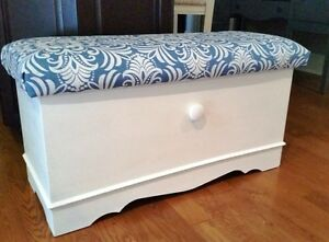 Newly Padded/Painted Bench/Chest