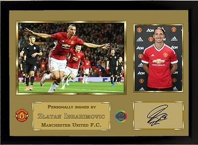 new Zlatan Ibrahimovic signed autographed Manchester United FC Framed 004