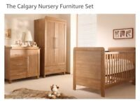 Oak Nursery Furniture set - Kiddystyle Calgary