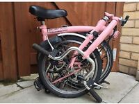 Brompton M3L in pink. Fast sell