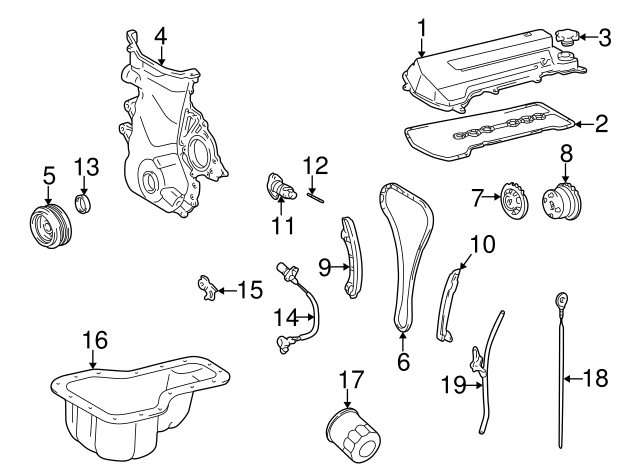 Crankshaft Pulley Harmonic Balancer for Toyota Corolla 98