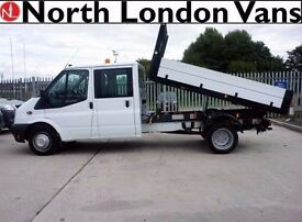 FORD TRANSIT TIPPER 2.2 350 - Double Cab - Dropsides - Full Service History - One Previous Owner