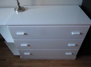 White dresser and side table