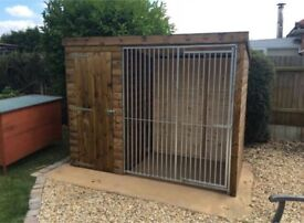 8ft x 4ft Dog Kennel & Run