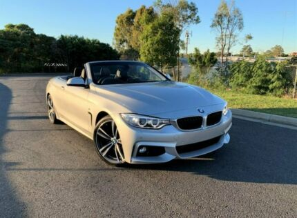2014 BMW 4 Series F33 Silver 8 Speed Sports Automatic Convertible Darra Brisbane South West Preview