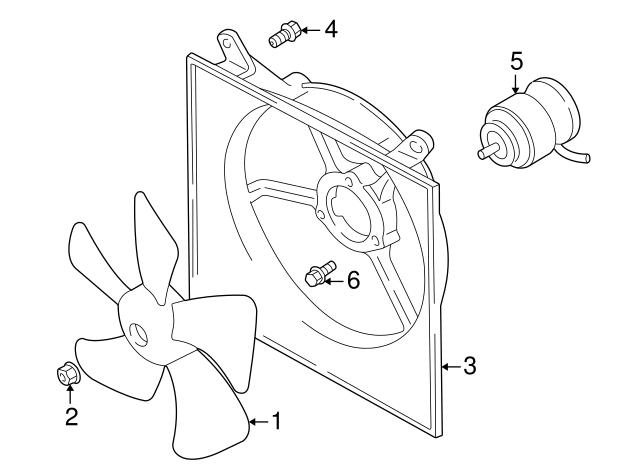 Radiator Cooling Fan Motor For Suzuki Aerio 2002-2007 4