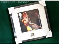 Limited Edition ROYAL MAIL David Bowie 'ZIGGY STARDUST Large Framed Album Giclee Print Picture *RARE